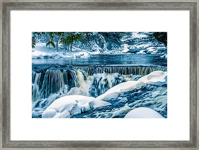 Middle Section Of Bond Falls 1 Framed Print by Optical Playground By MP Ray