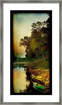 Middle Suwannee Pano Framed Print by Linda Olsen