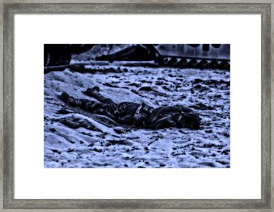 Midnight Battle All Alone Framed Print by Thomas Woolworth