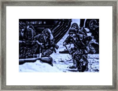 Midnight Battle Take Cover Framed Print by Thomas Woolworth