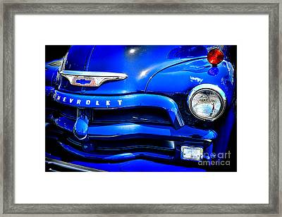 Midnight Chevrolet  Framed Print by Olivier Le Queinec