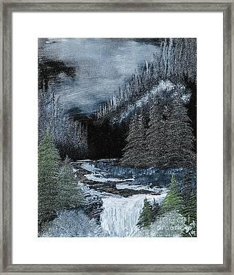 Midnight Falls Framed Print by Dave Atkins
