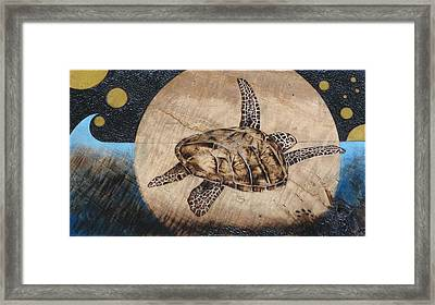 Midnight Fight Framed Print by Bea Israel