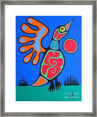 Midnight Flight Framed Print by Jim Oskineegish