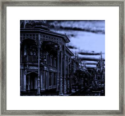 Midnight On Main Street Disney World Framed Print by Thomas Woolworth