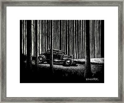 Midnight Run Framed Print by Bomonster