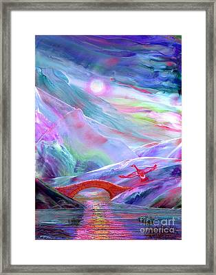 Midnight Silence, Flying Goose Framed Print by Jane Small