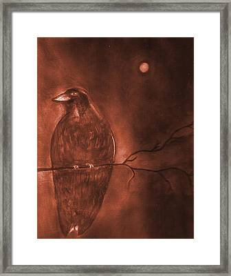 Midnight Solitude Framed Print by Noreen  Withrow Roux