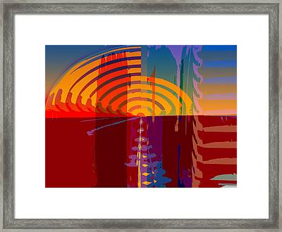 Midnight Sunset Framed Print by Fran Riley