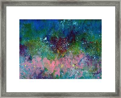 Midnight's Garden Framed Print by P J Lewis