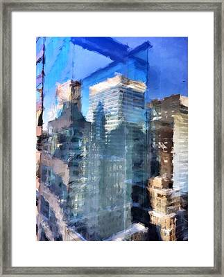 Midtown Day Framed Print by H James Hoff