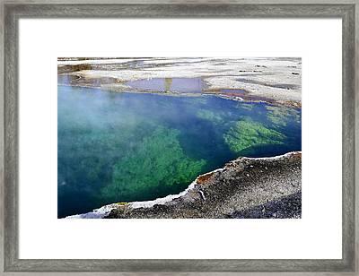 Midway Geyser Basin Framed Print by Bill Hosford