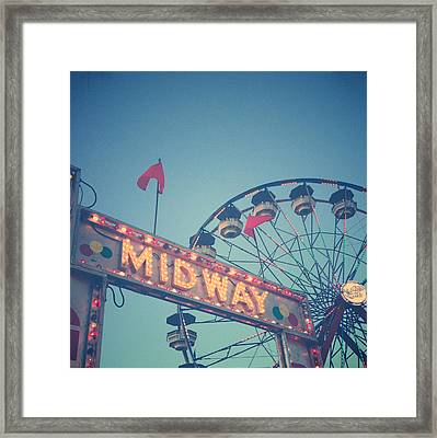 Midway Framed Print by Joy StClaire