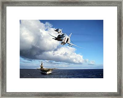 Midway Phantoms Framed Print by Peter Chilelli