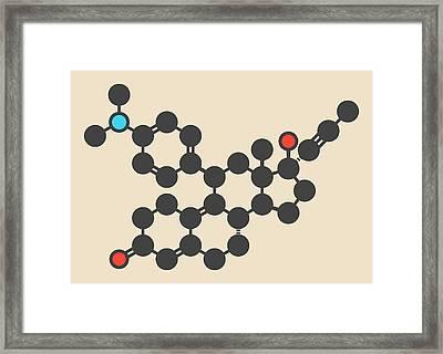 Mifepristone Molecule Framed Print by Molekuul