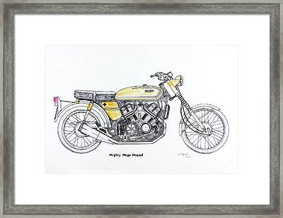 Mighty Mega Moped Framed Print by Stephen Brooks