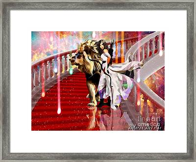 Mighty Woman Of God Framed Print by Dolores Develde