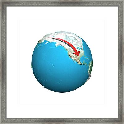 Migration To America Framed Print by Claus Lunau