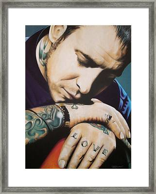 Mike Ness Framed Print by Bruce McLachlan