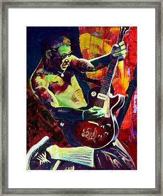 Mike Ness Framed Print by Kat Richey