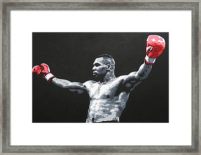 Mike Tyson 1 Framed Print by Geo Thomson