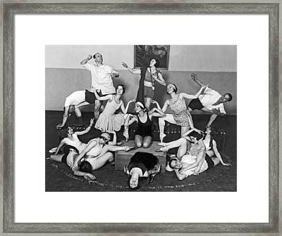 Mikhail Mordkin And Students Framed Print by Underwood Archives
