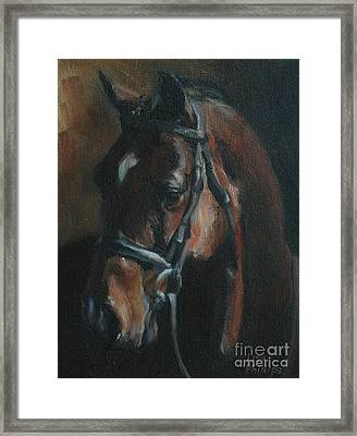 Miko Framed Print by Lisa Phillips Owens