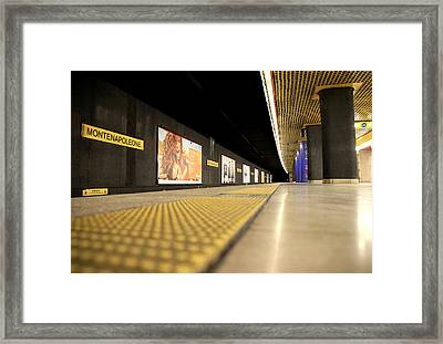 Milan Subway Station Framed Print by Valentino Visentini