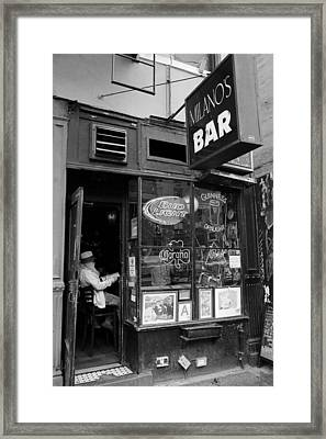 Milano's Bar 2 Framed Print by Andrew Fare