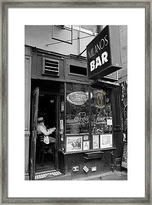 Milano's Bar 3 Framed Print by Andrew Fare