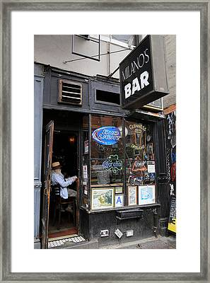 Milano's Bar Framed Print by Andrew Fare