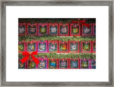Mile Marker 0 Christmas Decorations Key West - Hdr Style Framed Print by Ian Monk
