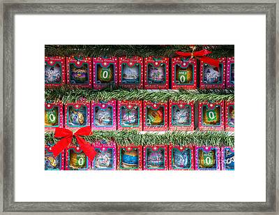 Mile Marker 0 Christmas Decorations Key West Framed Print by Ian Monk