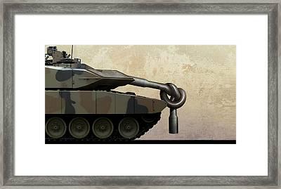 Military Disarmament Framed Print by Smetek