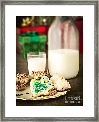 Milk And Cookies Framed Print by Edward Fielding