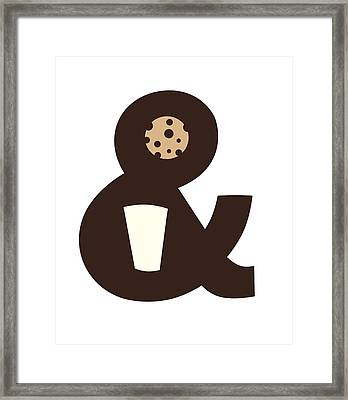 Milk And Cookies Framed Print by Neelanjana  Bandyopadhyay