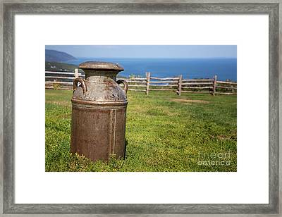 Milk Churn Framed Print by Jane Rix