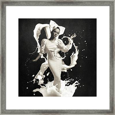 White Dress Framed Print featuring the photograph Milk by Erik Brede