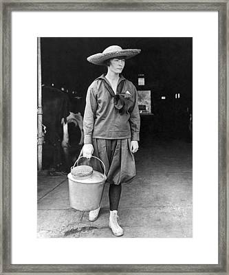 Milking Time Framed Print by Underwood Archives