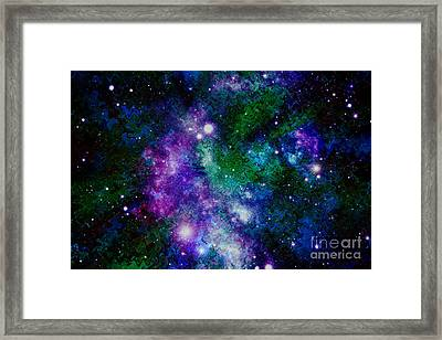 Milky Way Abstract Framed Print by Carol Groenen