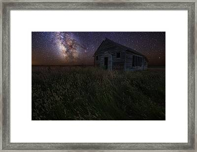 Milky Way And Decay Framed Print by Aaron J Groen