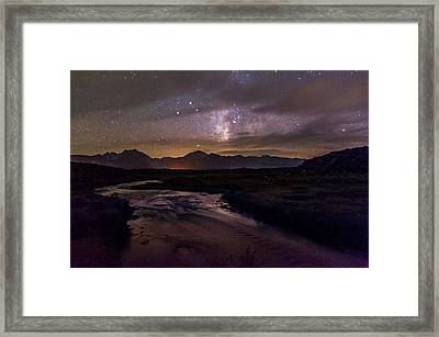 Milky Way At Hot Creek Framed Print by Cat Connor