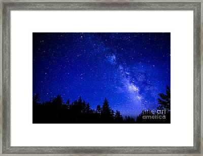 Milky Way Cranberry Wilderness Framed Print by Thomas R Fletcher