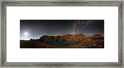 Milky Way Dreams At Columbine Lake Framed Print by Mike Berenson