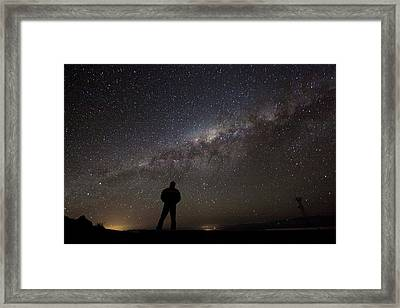 Milky Way From La Silla Framed Print by Eso/a. Fitzsimmons