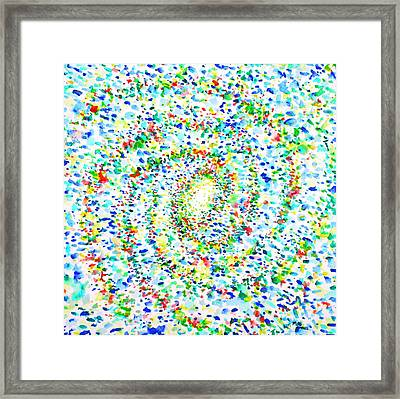 Milky Way Galaxy - Watercolor Painting Framed Print by Fabrizio Cassetta