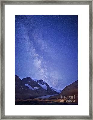Milky Way In Jasper Framed Print by Dan Jurak