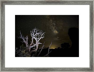 Milky Way Over Arches National Park Framed Print by Adam Romanowicz