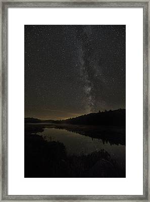 Milky Way Over Costello Creek Framed Print by Robert Postma