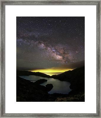 Milky Way Over Lagoa Do Fogo Framed Print by Babak Tafreshi